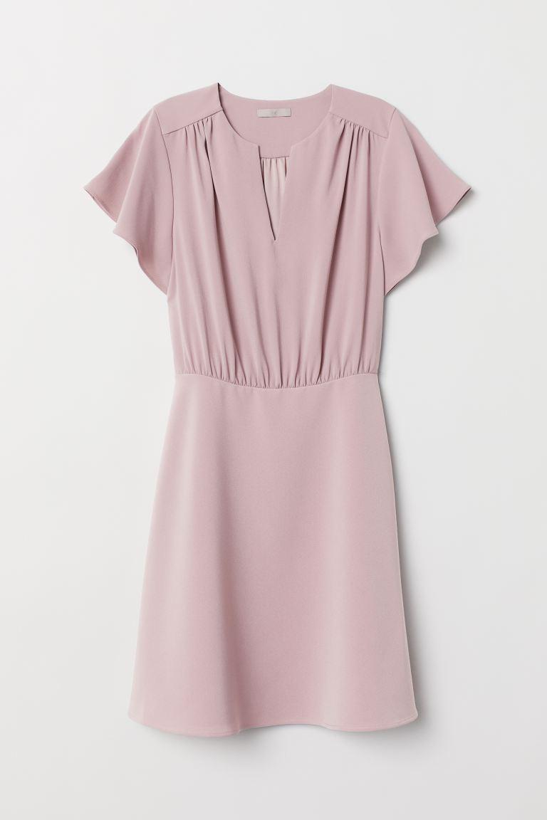 hm lilac kleid