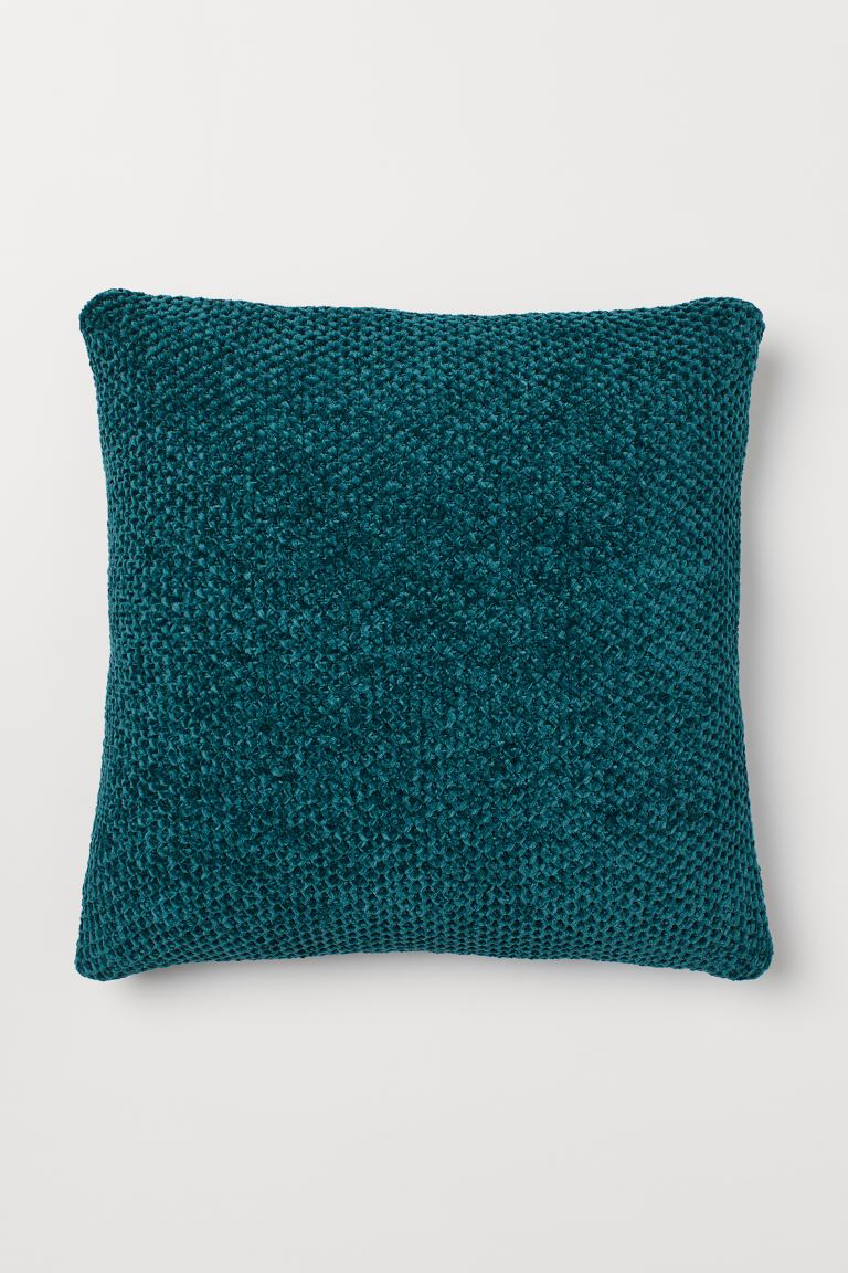 Chenille cushion cover - Dark green - Home All | H&M IE
