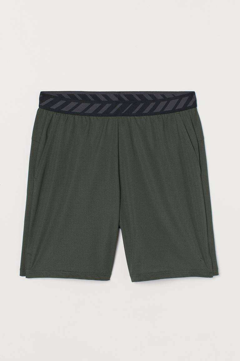 Mesh sports shorts - Dark khaki green - Men | H&M IN
