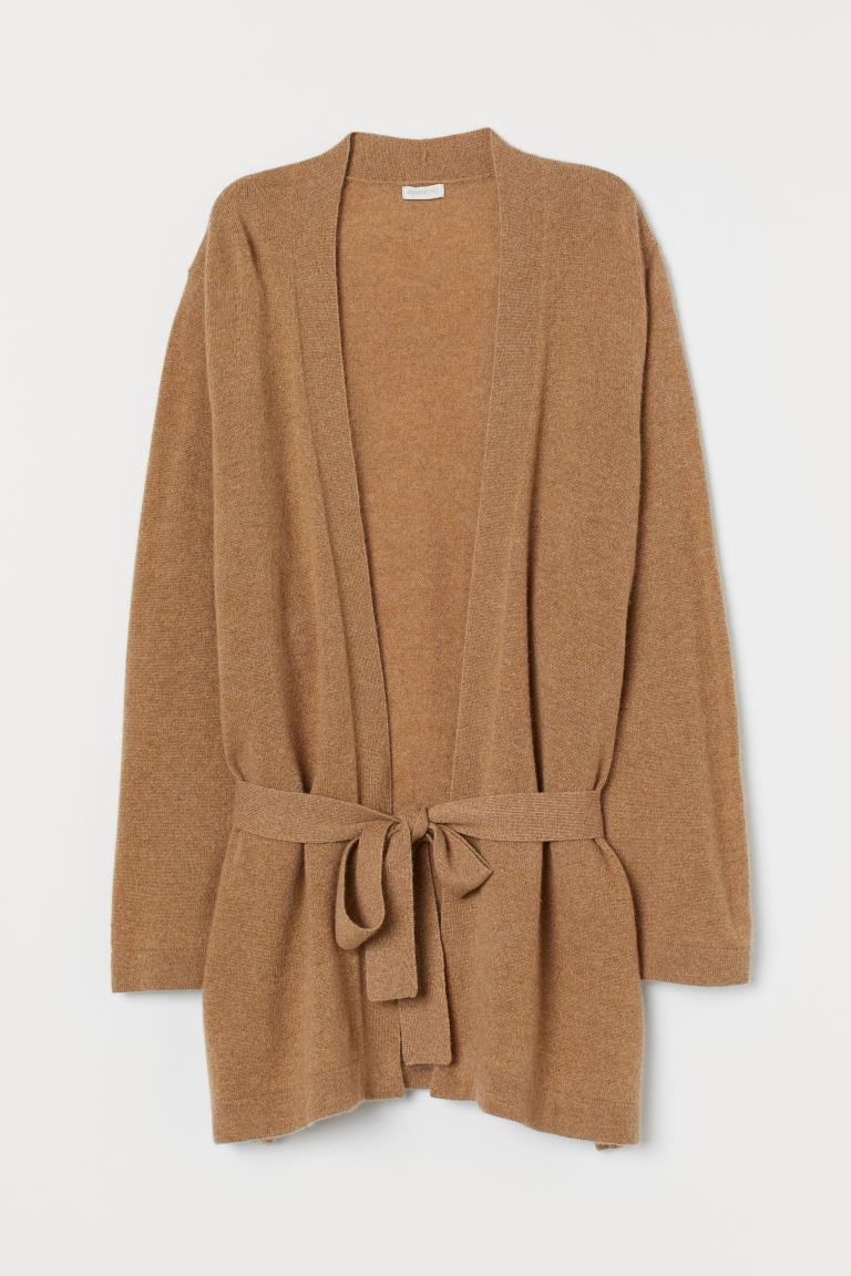 Cashmere cardigan - Dark beige marl - Home All | H&M IE