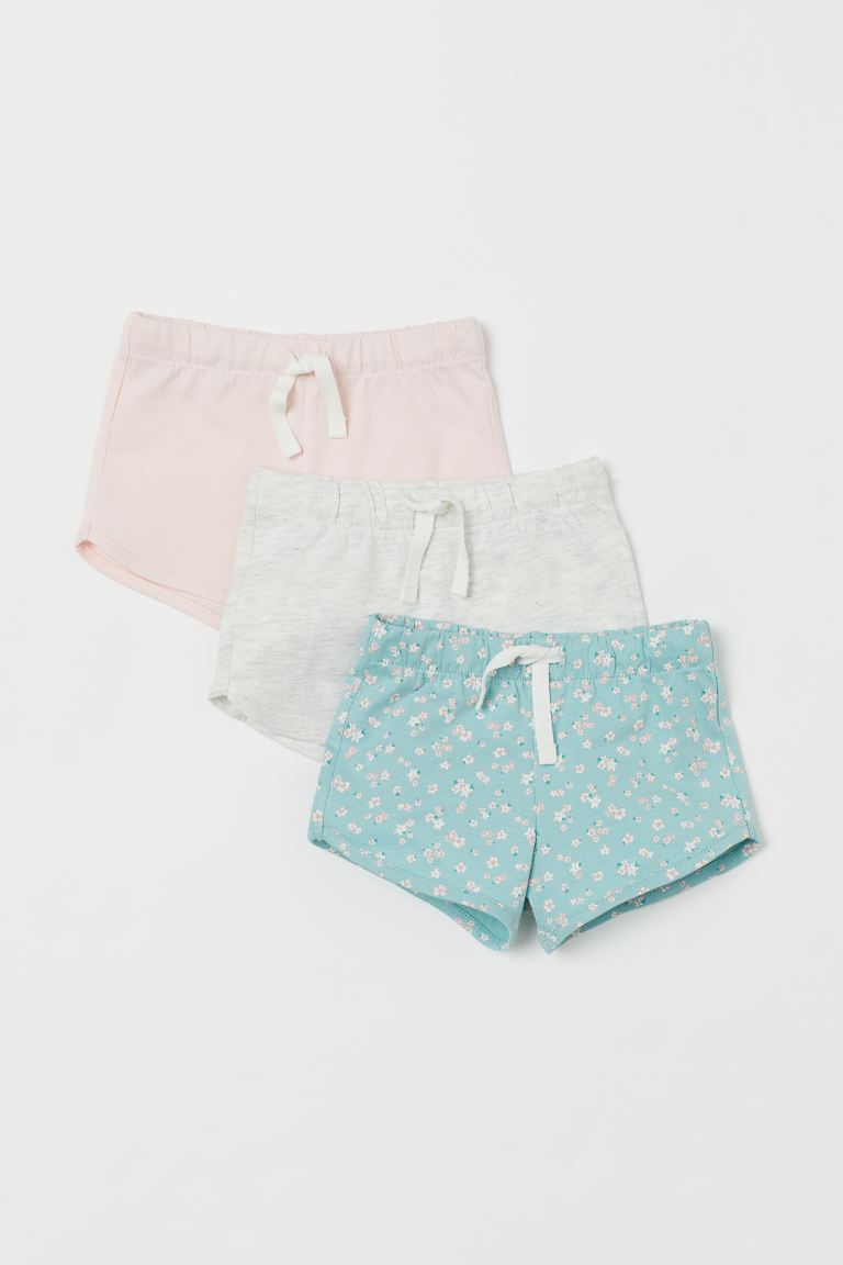 3-pack jersey shorts - Turquoise/Floral - Kids | H&M