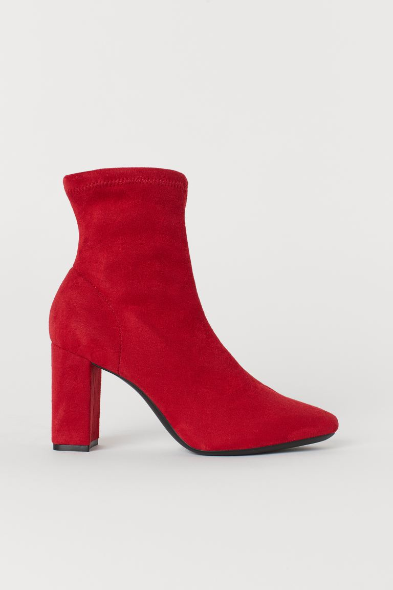 Sock Boots - Red - Ladies | H&M US