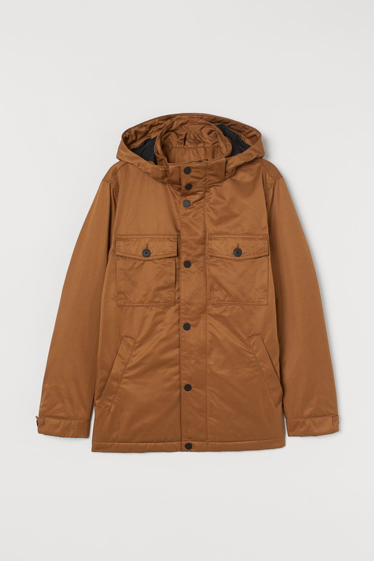 Hooded jacket - Dark beige - Men | H&M GB