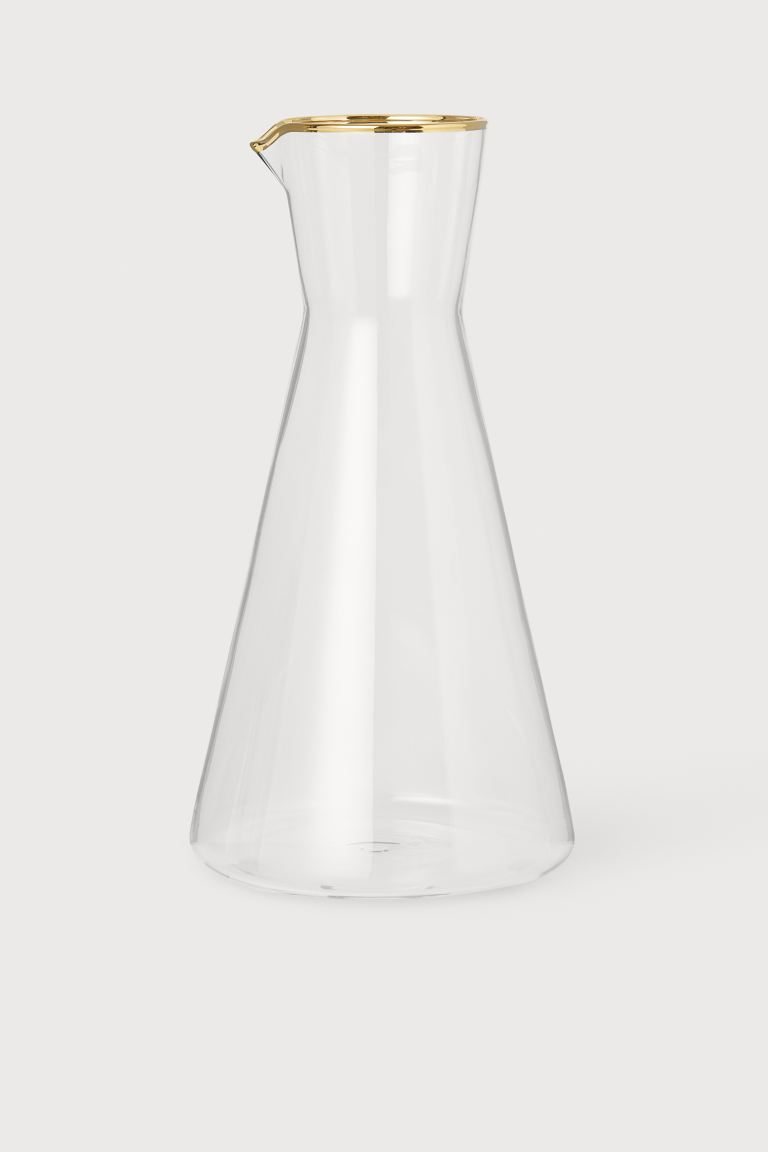 Carafe - Clear glass/gold-colored -  | H&M US