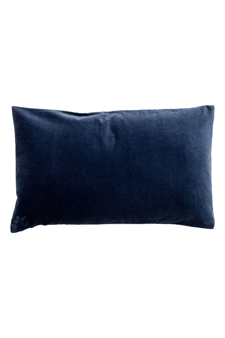 Velvet cushion cover - Dark blue - Home All | H&M GB