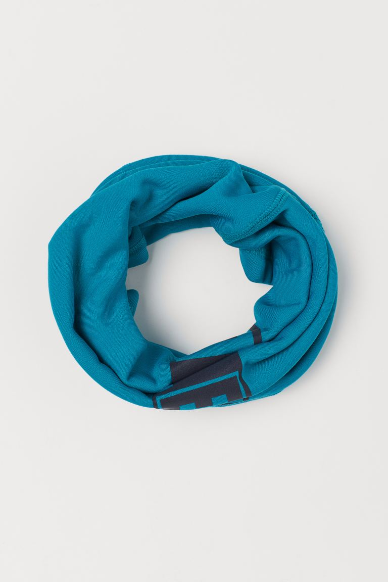 Fleece-lined tube scarf - Dark turquoise -    H&M GB