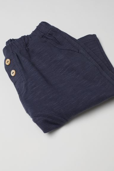 Cotton Pants - Dark blue -  | H&M US