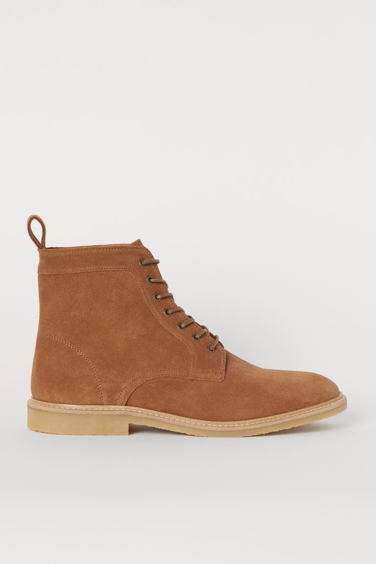 Boots aus Veloursleder - Camel - Men | H&M AT