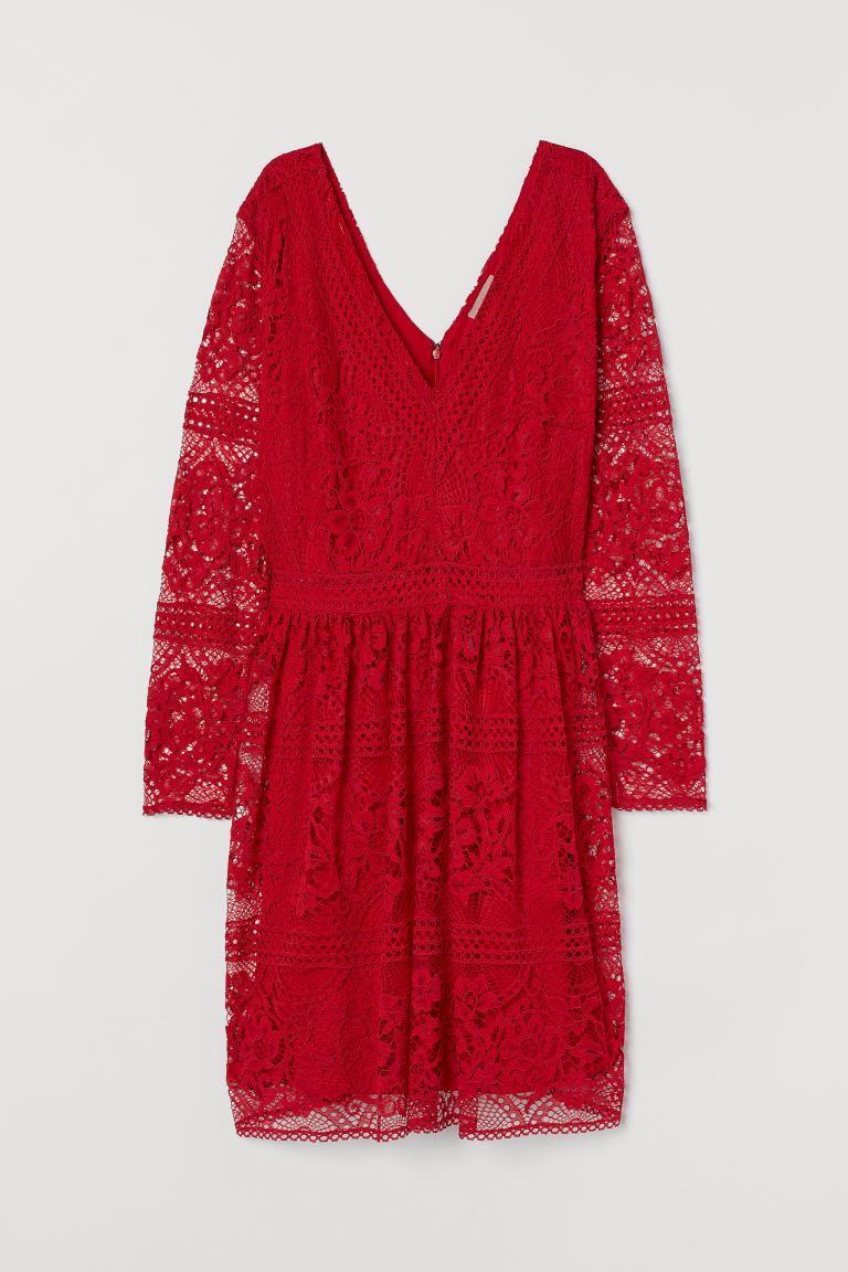 H&M+ V-Kleid aus Spitze