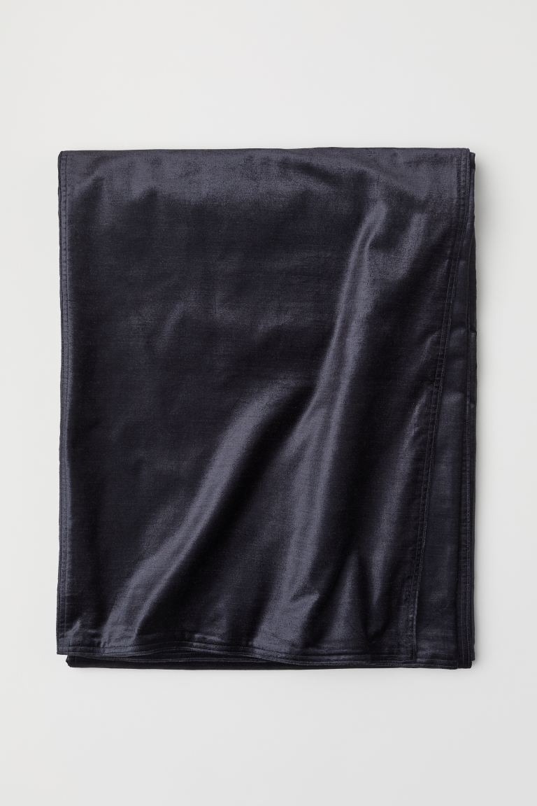 Velvet Bedspread - Charcoal gray - Home All | H&M CA