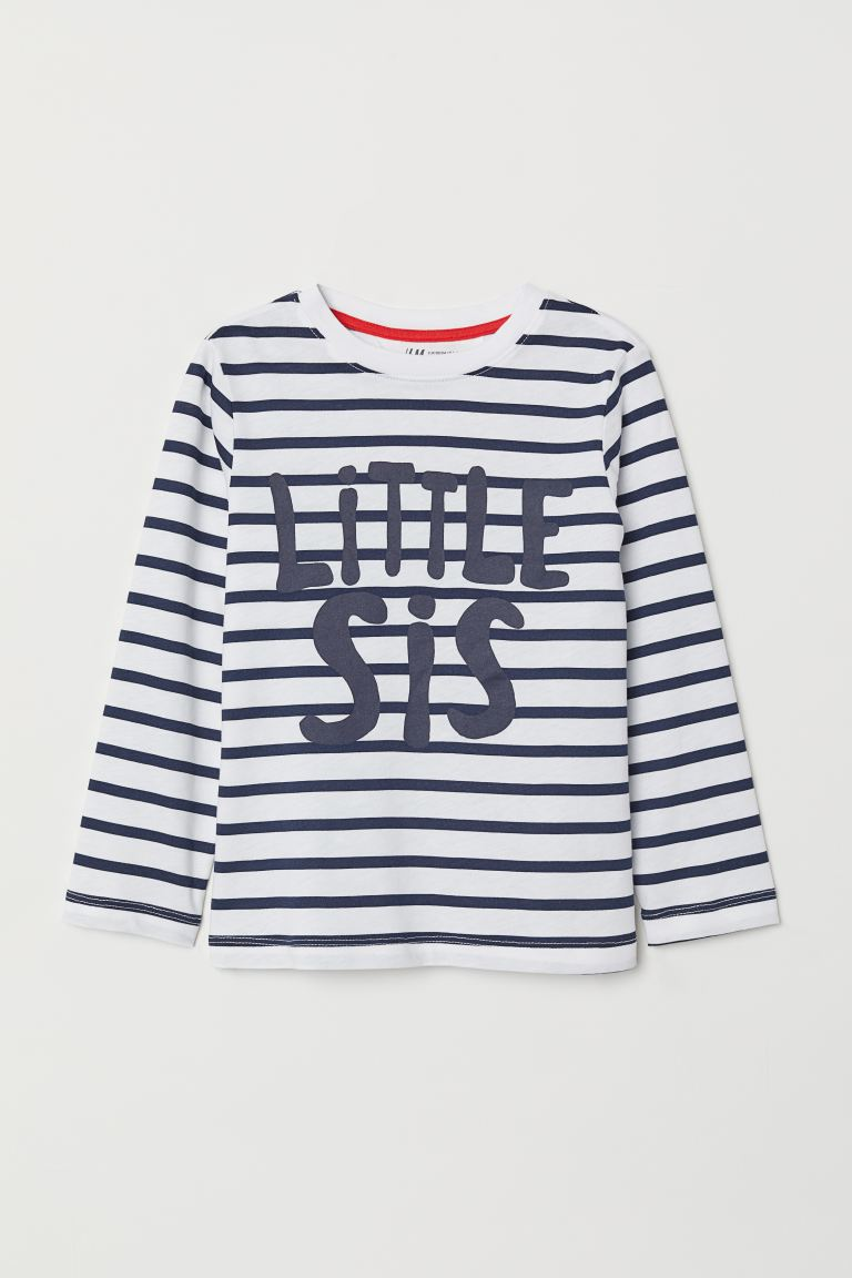 Sibling top - White/Little Sis -  | H&M GB