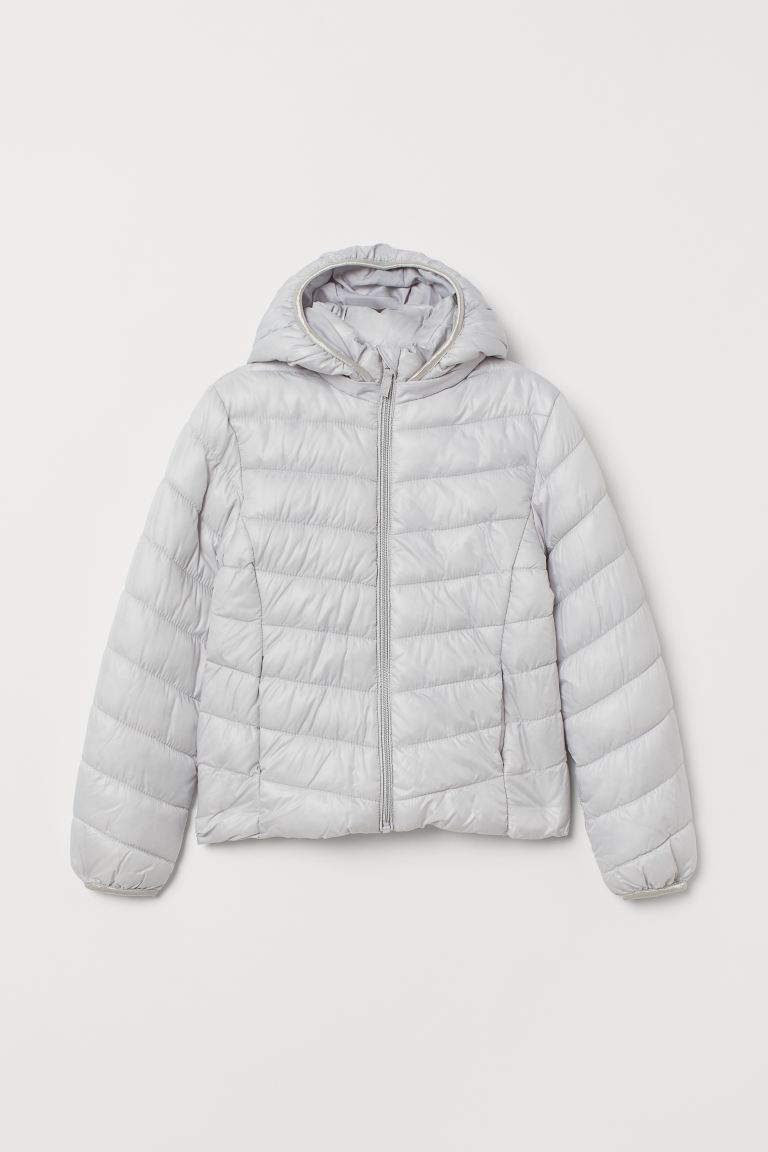 Padded lightweight jacket - Light grey - Kids | H&M IE