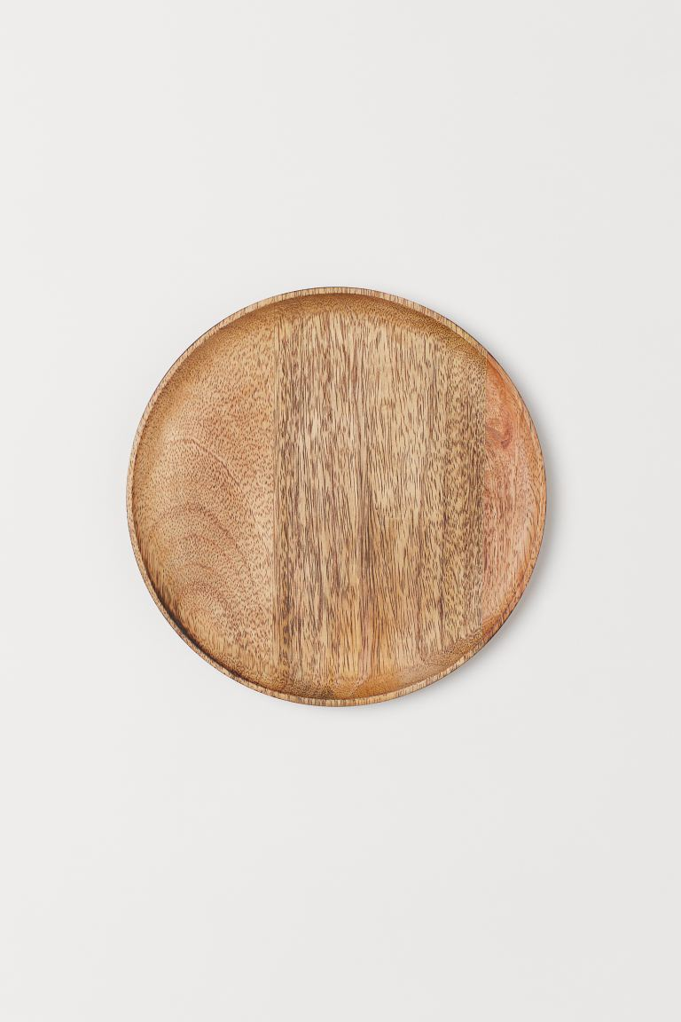 Small wooden serving dish - Brown/Mango wood - Home All | H&M GB