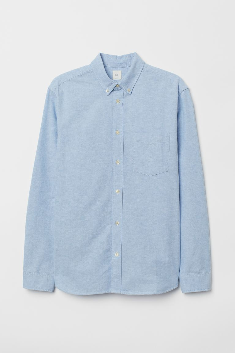 Regular Fit Oxford Shirt - Light blue - Men | H&M US