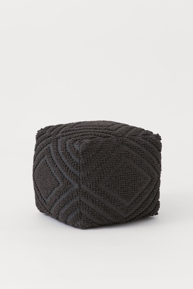 Wool pouffe - Anthracite grey - Home All | H&M IE