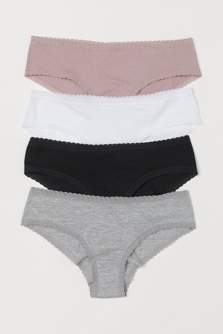4-pack cotton hipster briefs