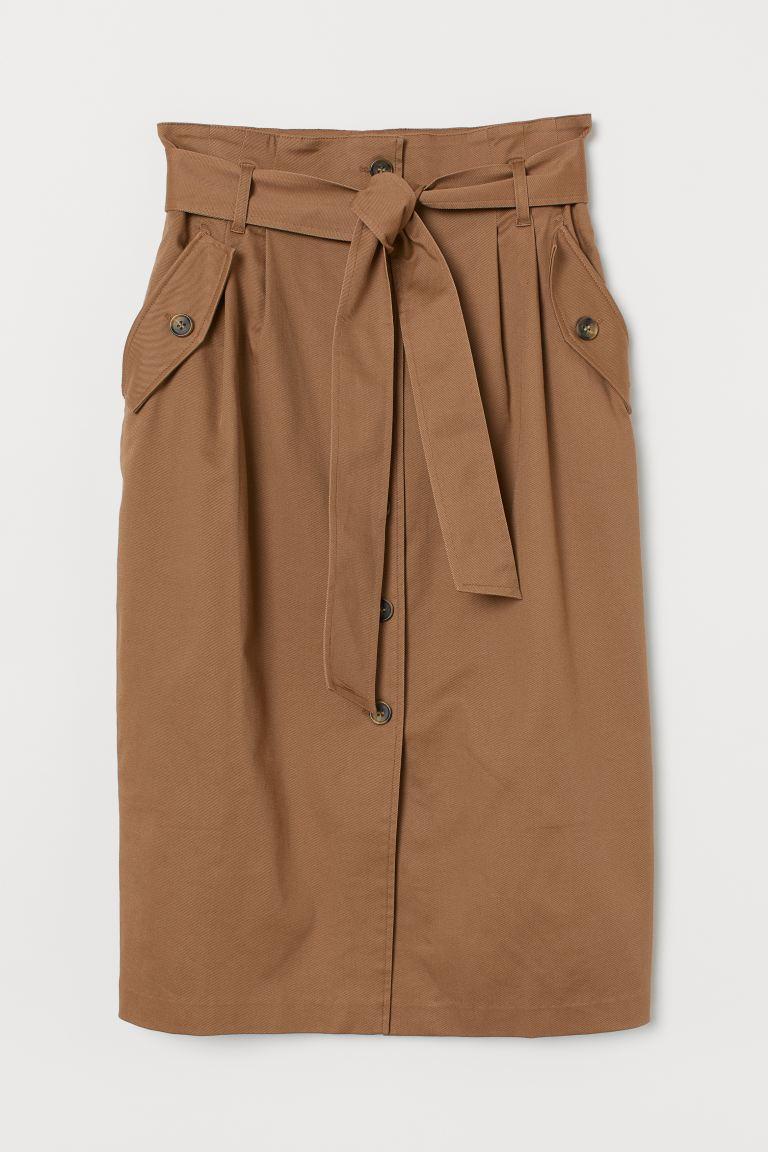 Knee-length utility skirt - Dark beige - Ladies | H&M GB