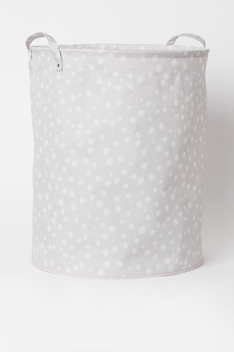 Large storage basket - Light grey/Spotted - Home All | H&M GB