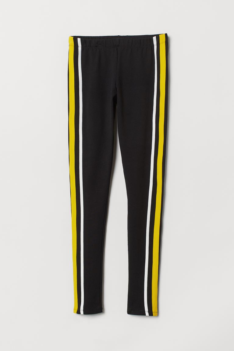 Leggings - Black/yellow - Ladies | H&M CA