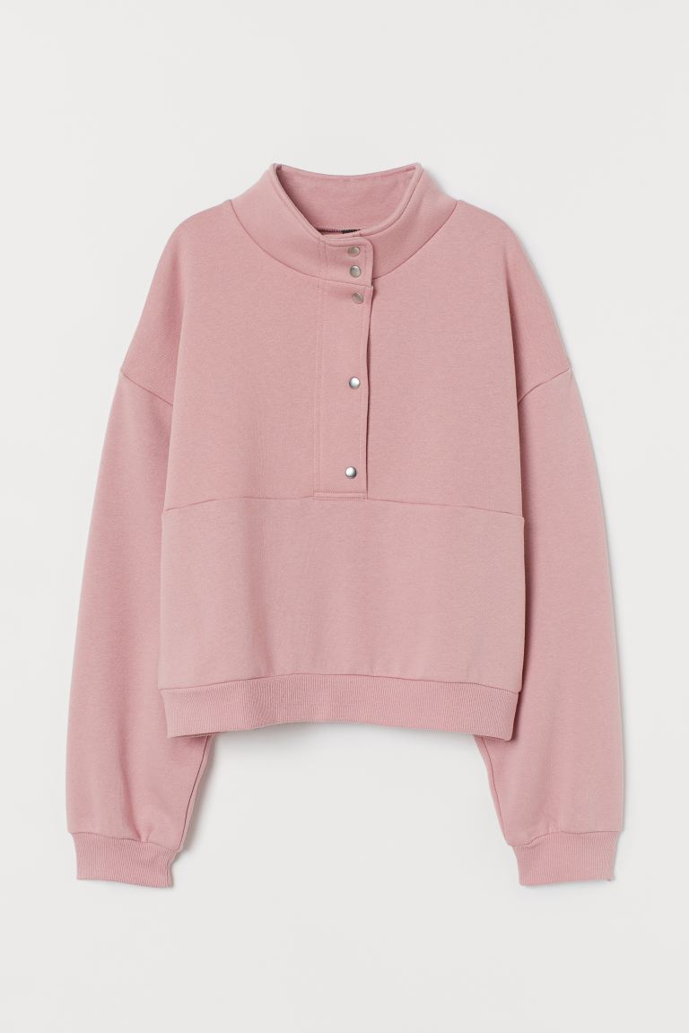 Boxy Sweatshirt - Pink - Ladies | H&M US