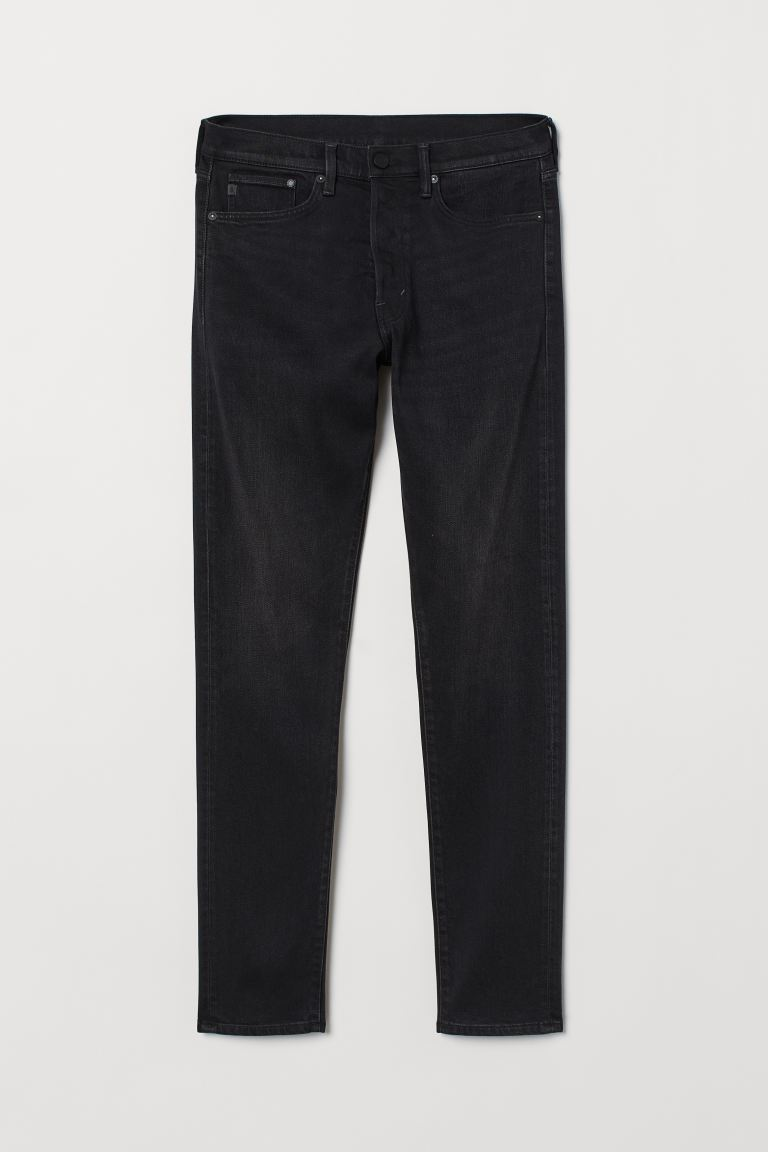 Slim Straight Comfort Jeans - Noir - HOMME | H&M BE