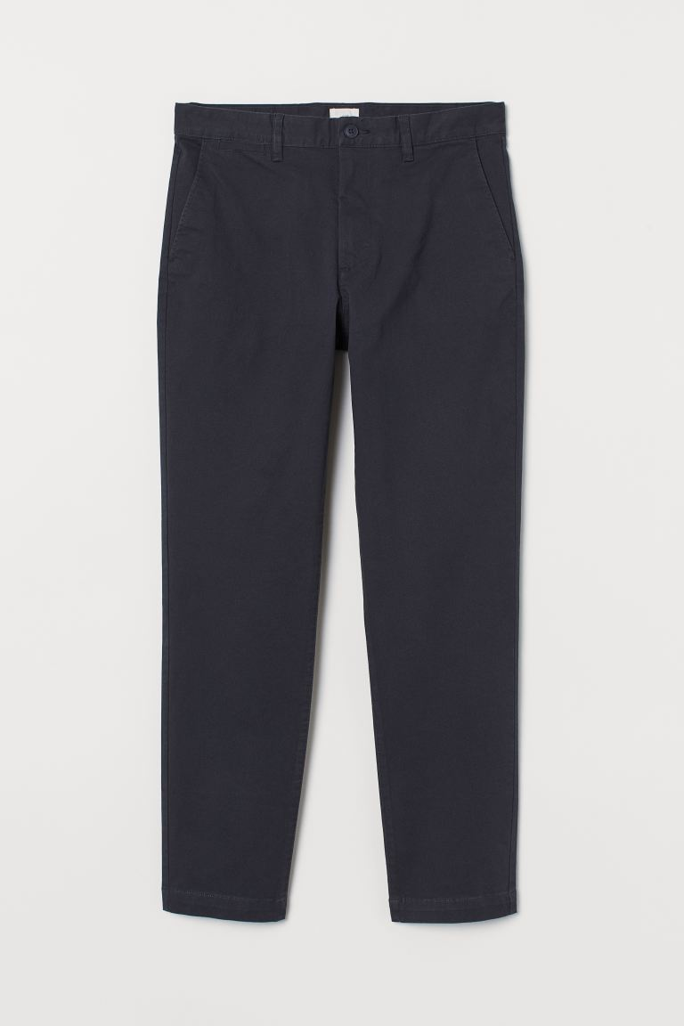 Chinos Slim Fit - Blu navy - UOMO | H&M IT