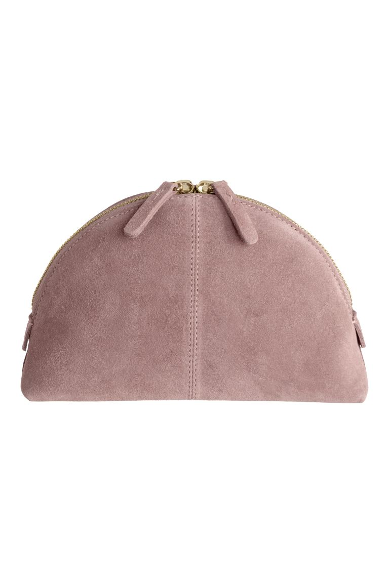 Suede make-up bag - Light pink - Ladies | H&M IE