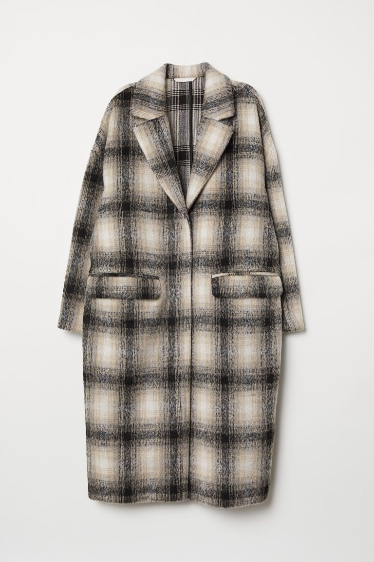Knee-length Coat - Beige/checked - Ladies | H&M CA