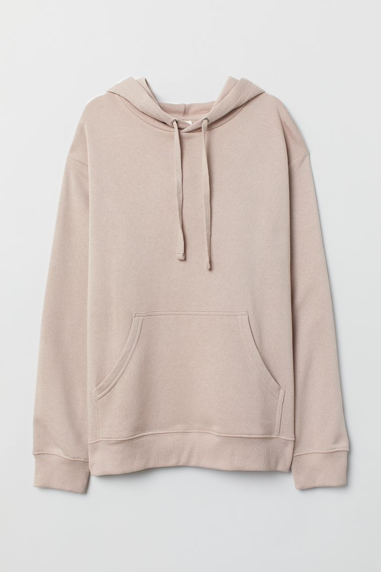 Sweat-shirt à capuche - Rose poudré clair - FEMME | H&M BE