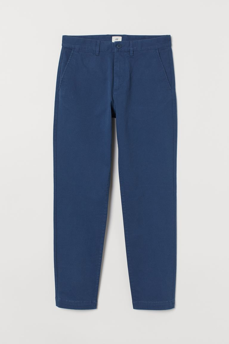 Chinos Slim Fit Stretch - Blue - Men | H&M GB