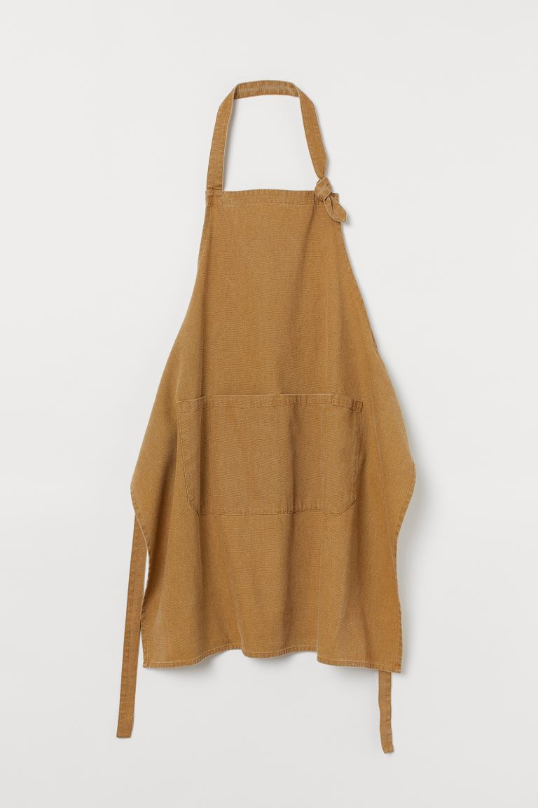 Cotton apron - Dark beige - Home All | H&M