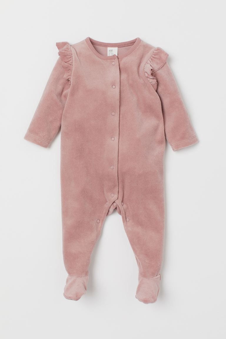 Velour Jumpsuit Pink H M Us