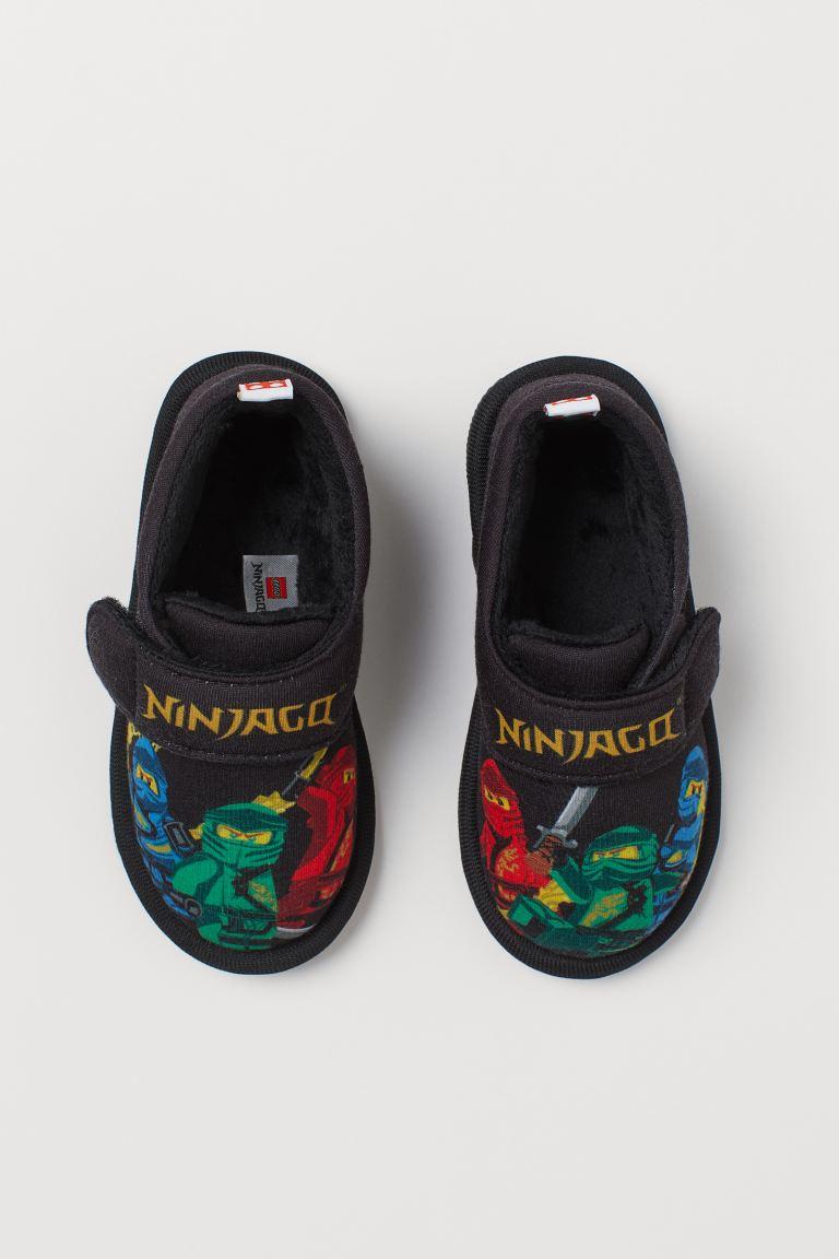 Jersey indoor shoes - Black/Ninjago - Kids | H&M GB