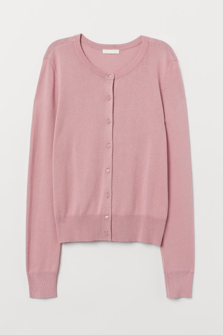 Fine-knit cardigan - Pink - Ladies | H&M IN