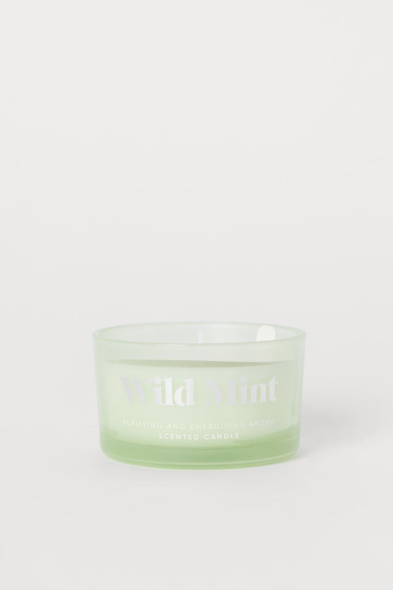 Scented Candle in Glass Holder - Light green/Wild Mint - Home All | H&M US