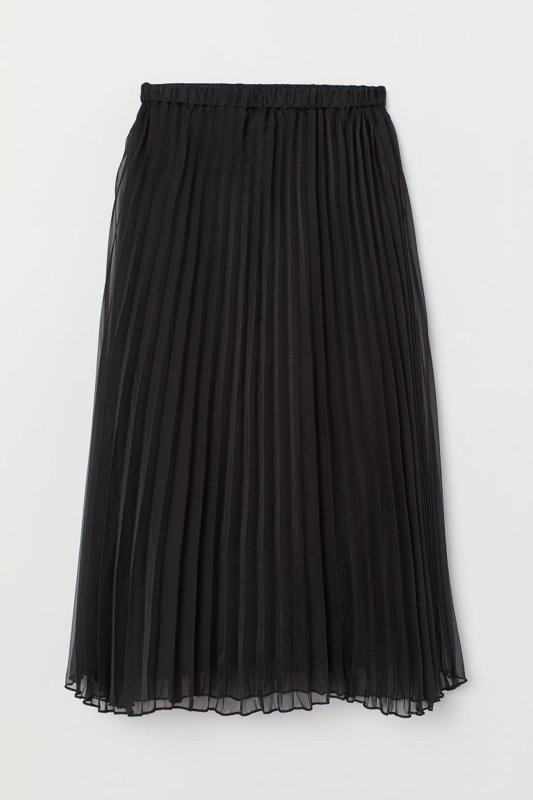 Pleated skirt - Black - Ladies   H&M GB