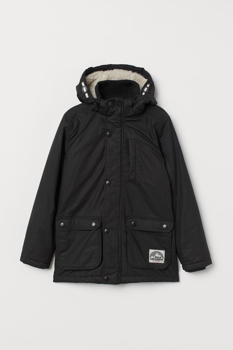 Padded parka - Black - Kids | H&M IN