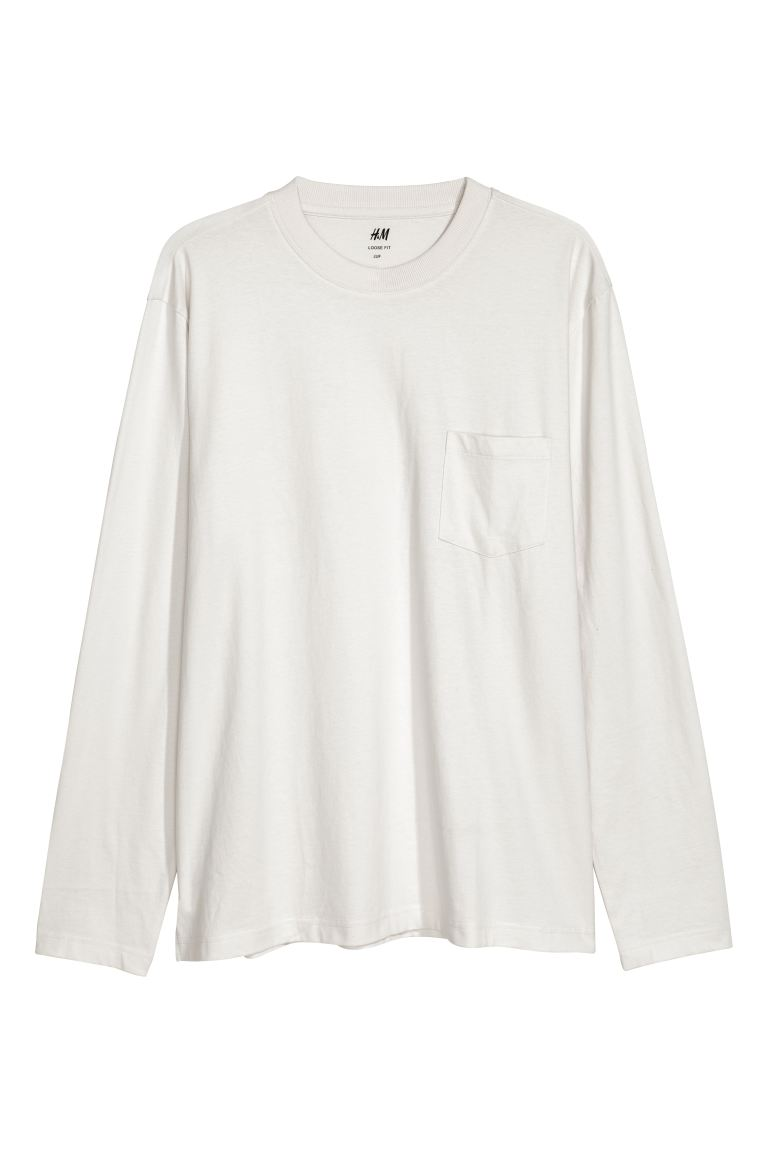 Shirt - Loose fit - Lichtgrijs - HEREN | H&M BE