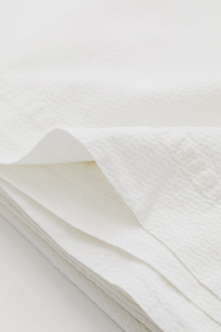 Textured Cotton Bedspread - White - Home All | H&M US