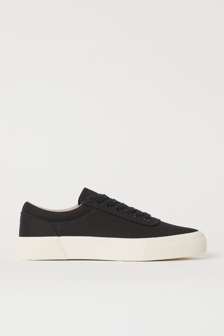 Sneakers i canvas - Sort - HERRE | H&M NO