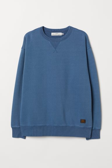 Relaxed-fit sweatshirt - Blue - Men | H&M