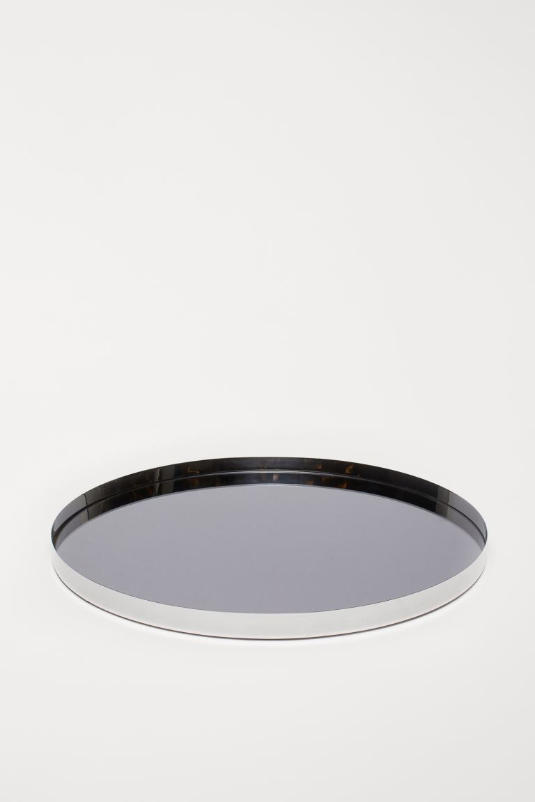 Mirrored Glass Tray - Silver-colored - Home All | H&M US