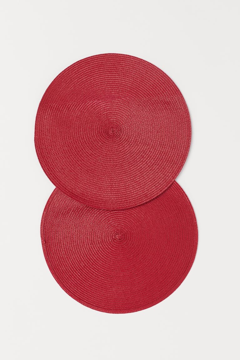 2-pack round table mats - Red - Home All | H&M GB