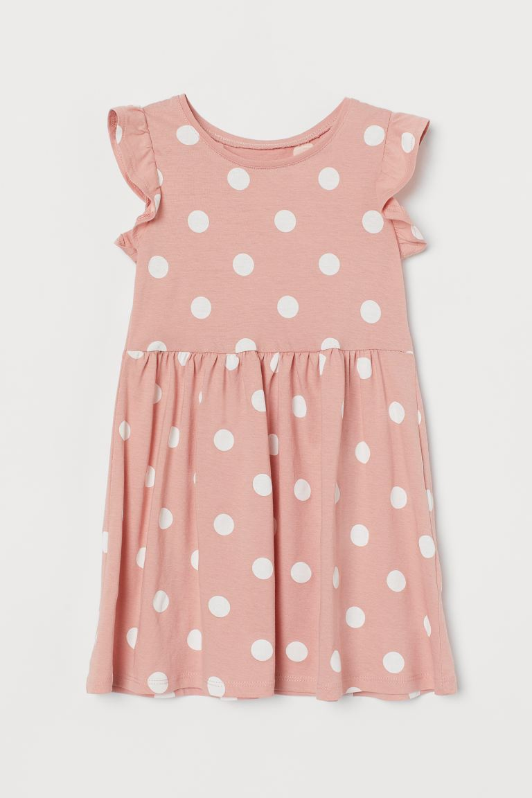 Robe en jersey - Rose/pois blancs - ENFANT | H&M BE