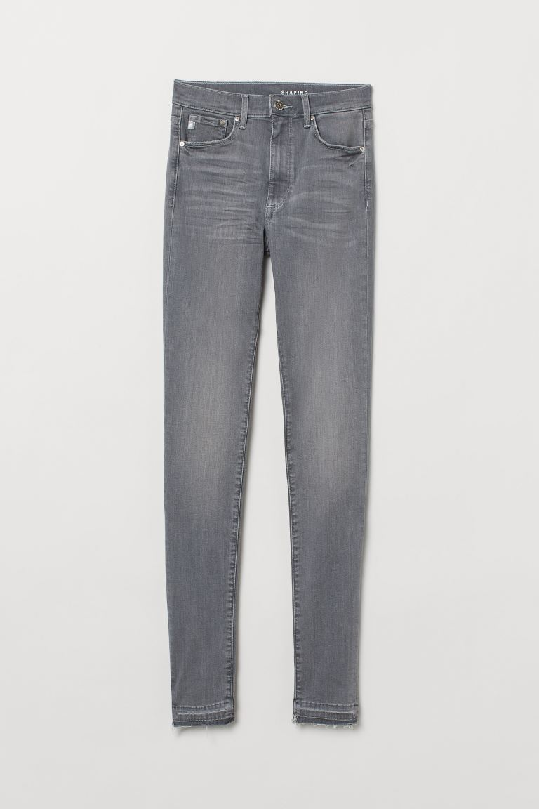 Shaping Skinny High Jeans - Light denim grey - Ladies | H&M IN