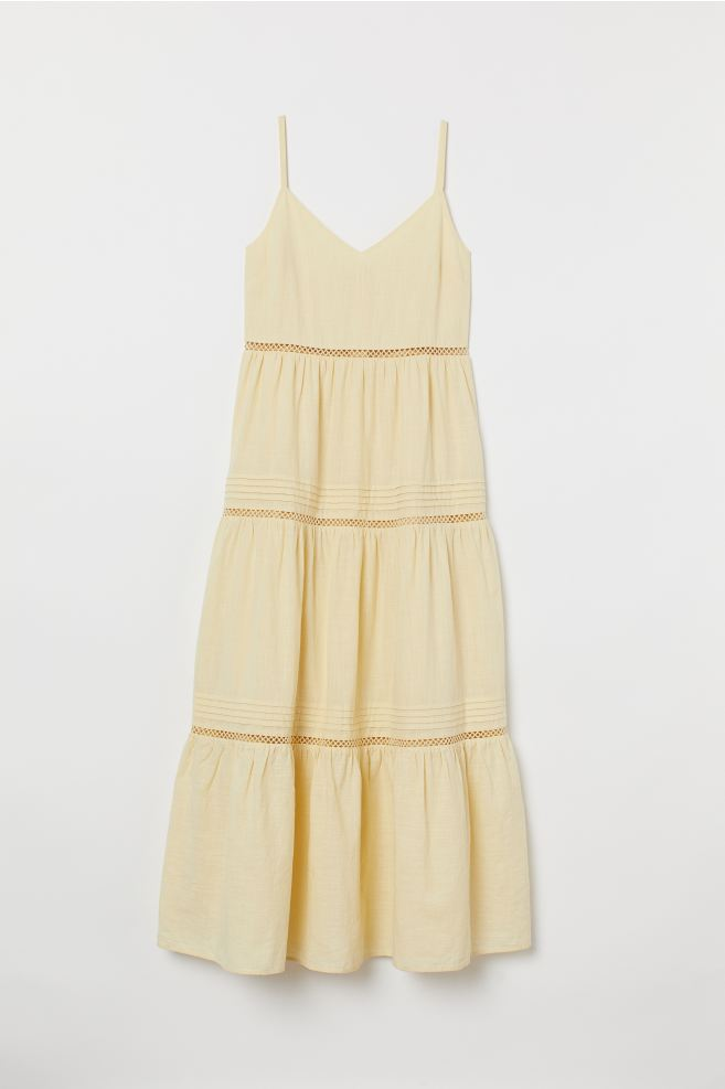 V-neck Cotton Dress - Light yellow - Ladies | H&M CA 5