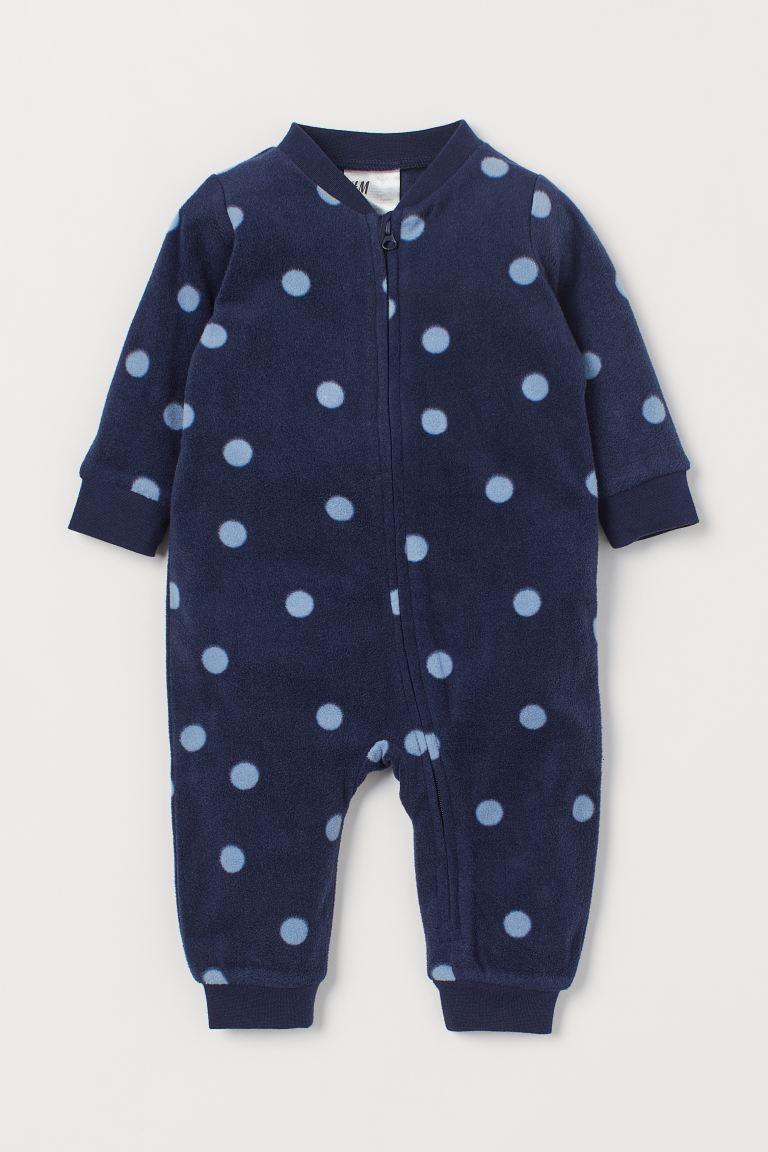 Fleece all-in-one pyjamas