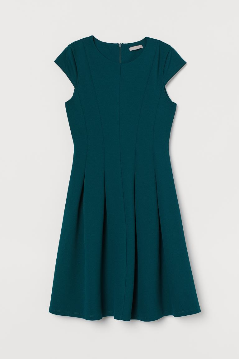 Knee-length Dress - Dark green - Ladies | H&M US