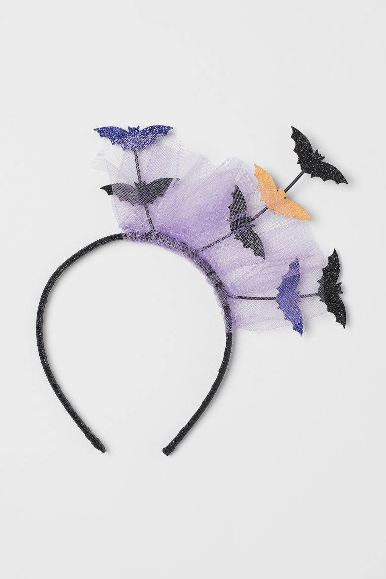 Alice band with bats - Night black/Bats - Kids | H&M GB