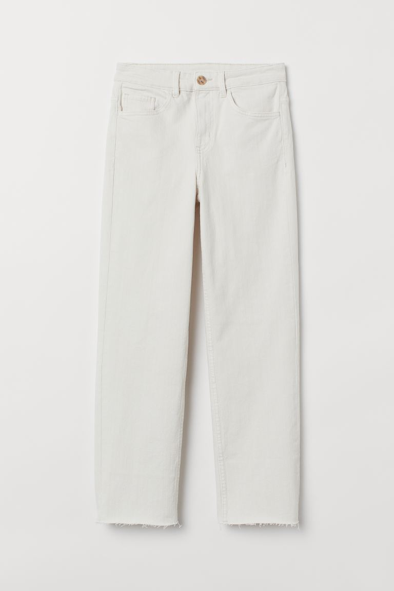 Straight High Ankle Jeans - Écru - FEMME | H&M CH